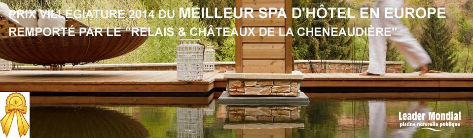 Piscine écologique du Relais & Château de Chenaudière - Meilleur Spa d'Hôtel